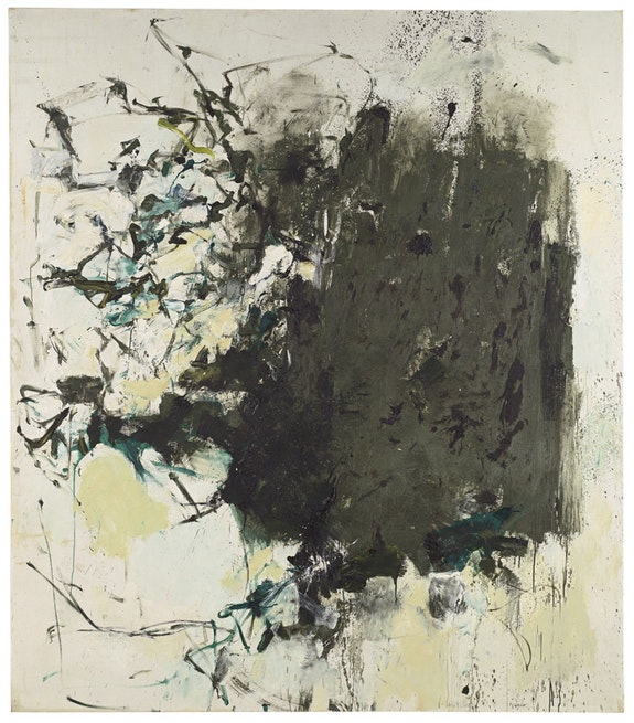 """Joan Mitchell, """"First Cypress,"""" 1964. Oil on canvas, 88 1/2 × 78 inches. Courtesy of Cheim & Read."""