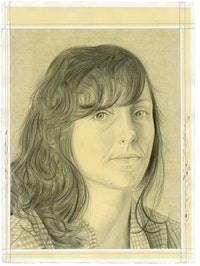 Portrait of Rachael Rakes. Pencil on paper by Phong Bui.