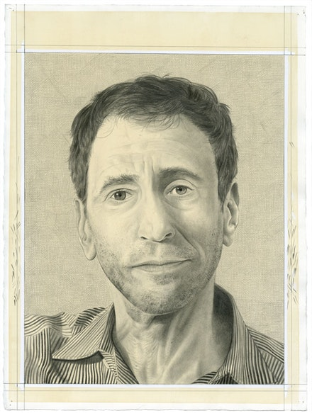 Portrait of Steven Rand. Pencil on paper by Phong Bui.