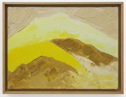 "Etel Adnan, ""Untitled,"" circa 2000. Oil on canvas, 9 × 12 ̋. Courtesy the artist and Callicoon Fine Arts, NY."
