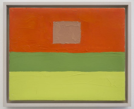 "Etel Adnan, ""Untitled,"" 2012. Oil on canvas, 8 × 10 ̋. Courtesy the artist and Callicoon Fine Arts, NY."