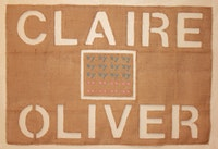 Claire Oliver gallery, poster by Madeline Stone.