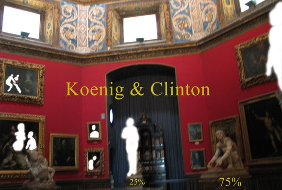 Koenig & Clinton gallery, poster by Lisa Oxley.