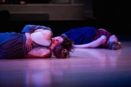 Rebecca Brooks, Ursula Eagly, Emily Wexler in Still Left on this Rock Danspace April 2014; Credit: Ian Douglas.