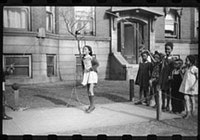 Jumping rope on the sidewalk, Chicago, Illinois, 1941. Photograph by Edwin Rosskam. Courtesy of Library of Congress Prints and Photographs Division.