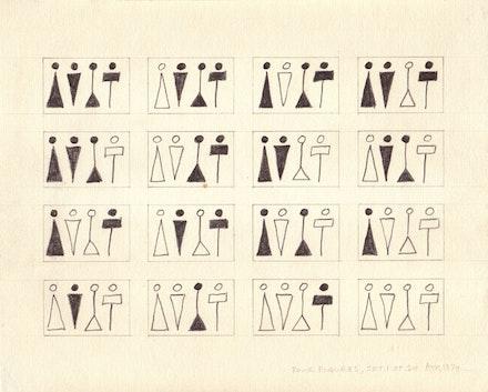 """Four Figures"" (1974). Courtesy Sean Kelly Gallery, New York."