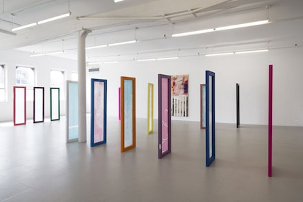 Installation Shot of Israel Lund Untitled Exhibition. Photo: Adam Reick. David Lewis Gallery, New York, 2014. Image courtesy the artist and David Lewis Gallery.