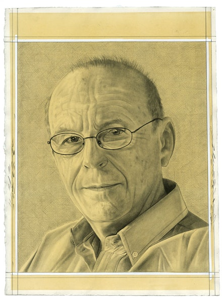 Portrait of the artist. Pencil on paper by Phong Bui. Inspired by a photo portrait by Owen Keogh.