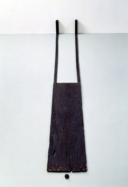 "James Lee Byars, ""Self-Portrait."" ca. 1959. Painted wood, bread. Six parts, overall: 9 x 13 x 78 1/2"". Courtesy Michael Werner Gallery, New York and London."