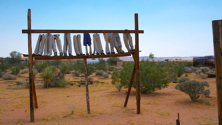 "Noah Purifoy, ""For the Sake of the Little People,"" 1994. Photo by Joel Spitalnik, Courtesy of the Noah Purifoy Foundation."