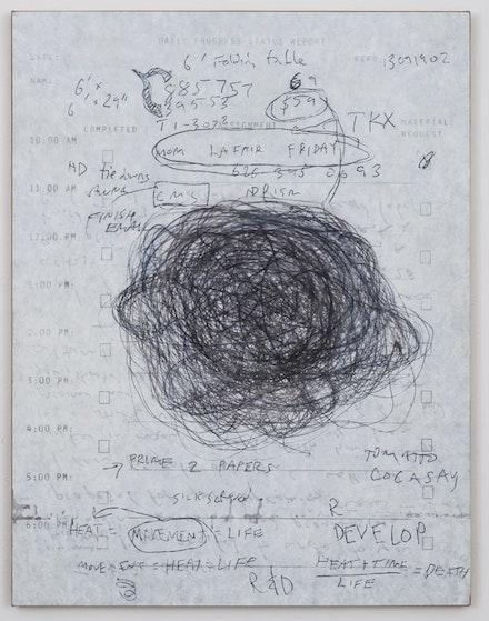 "Eric Wesley, ""DPS #20 (Power Blob),"" 2014. Acrylic on aluminum on linen, 48 × 37 ̋. Courtesy of the artist and Bortolami Gallery. Photo: Josh White."