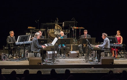 The Philip Glass Ensemble at BAM. Photo by Stephanie Berger.
