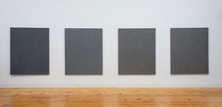 Raquel Rabinovich, Paintings from the <em>Gateless Gates</em> series, 1995 – 97, 50 × 40 ̋ each. Photo: Douglas Baz, 2014.
