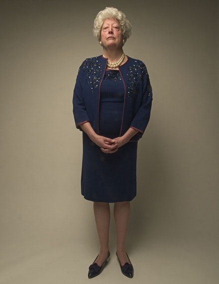 Barbara Bush Portrait by Dennis W. Ho, 2005.