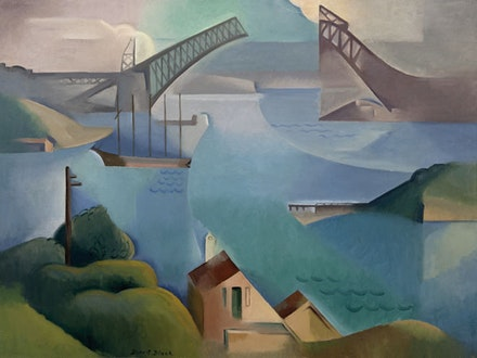 "Dorrit Black, ""The Bridge,"" 1930. Oil on canvas on board, 60 × 81cm. Art Gallery of South Australia, Adelaide. Courtesy of the Art Gallery of South Australia."