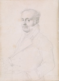 "Jean-Auguste-Dominique Ingres, ""Portrait of Hippolyte-François Devillers,"" 1812. The Thaw Collection. Courtesy the Morgan Library & Museum."