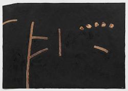 "Sarah Plimpton, ""Black Sky."" 2014. Oil on tyvek. Photo: Christopher Burke Studios."