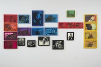 "Adam Helms, ""Untitled (Dante and Beatrice in Technicolor),"" 2014. Gouache and aniline dye on paper, 23 panels: dimensions variable. Courtesy the artist and Marianne Boesky Gallery, New York. © Adam Helms."