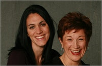 Leigh Silverman (left) and Lisa Kron (right). Photo by Joan Marcus.