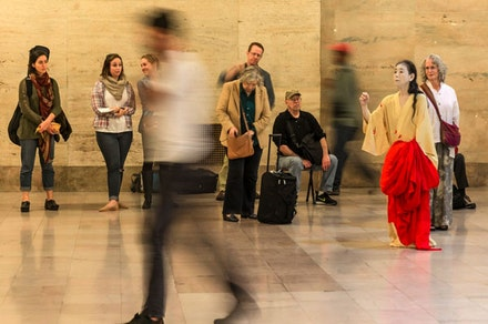 Eiko in the 30th St. Station. Photo: William Johnston.