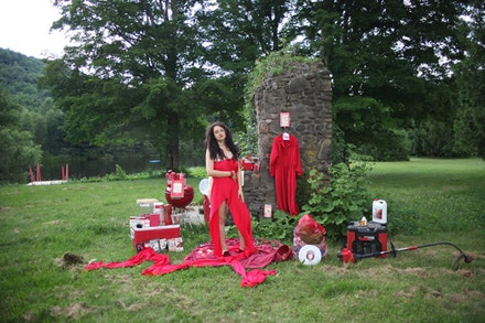 Chloé Rossetti at the Shandaken Project, 2014, courtesy Rossetti and the Shandaken Project.