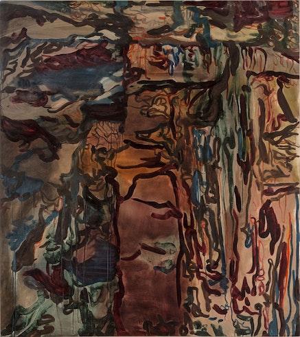"Liliane Tomasko, ""Night Shifting,"" 2014. Oil on Linen, 56 x 50 inches. © Liliane Tomasko. Courtesy Leslie Feely, NY."