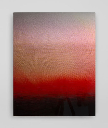 "James Hoff, ""Skywiper No. 4,"" 2014. Chromaluxe transfer on aluminum, 20 × 16 ̋. Courtesy of the artist and Callicoon Fine Arts, NY."