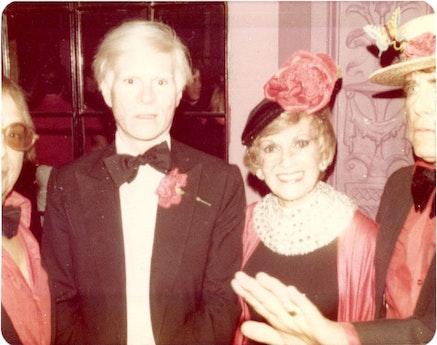 Andy Warhol and Sherry Bernstein 1980.