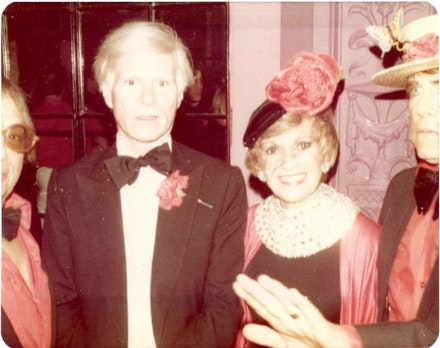 Andy Warhol and Sherry Bernstein 1980.