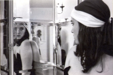 Emma Bee Bernstein, self-portrait from notebook, 2003, black-and-white photograph, 4 x 6