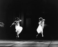 <i>Trisha Brown's Glacial Decoy. Archival photo by Anne Nordmann.</i>