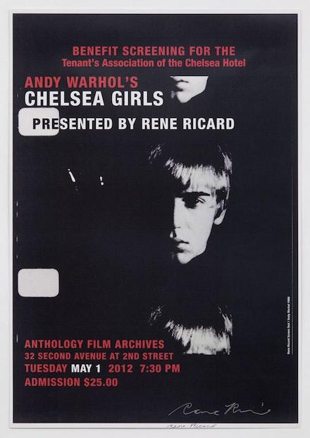 Anthology Film Archives poster, 2012.