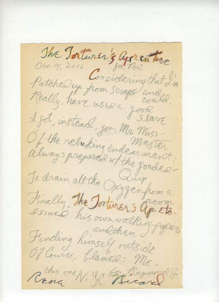 RR holograph manuscript, 2006.