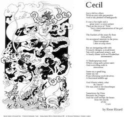 Cecil, broadside published by Sivastan Press, 2005.