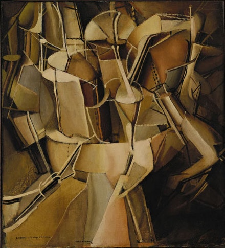 "Marcel Duchamp, ""The Passage from Virgin to Bride."" Munich, July – August 1912. Oil on canvas, 23 3/8 x 21 1/4"