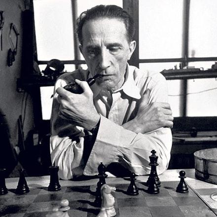 Marcel Duchamp, 1952. Image source unknown.