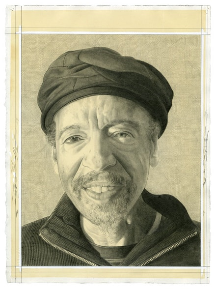 Portrait of Henry Threadgill. Pencil on paper by Phong Bui.