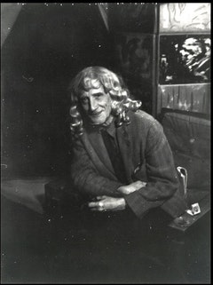 Man Ray, Marcel Duchamp in a Blonde Wig. 1950s.