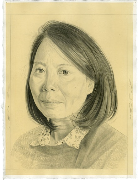 Portrait of the artist. Pencil on paper by Phong Bui. Inspired by a photograph by Zack Garlitos.