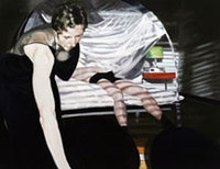 """Eric Fischl , """"Bedroom Scene #3 (Mistakes Mistakes! Everything Shakes From all the Mistakes)"""" (2004), oil on linen. Courtesy of Mary Boone Gallery, New York."""