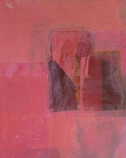 "Stuart Shils, ""telemachus's hesitation before dawn,"" 2014. Acrylic paint on archival inkjet photograph, 9.5×7˝. Courtesy of the artist."