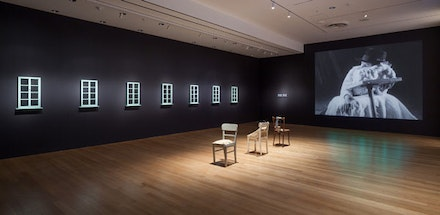 <p>Installation view of<em> Sturtevant: Double Trouble</em>, The Museum of Modern Art, November 9, 2014 – February 22, 2015. © 2014 The Museum of Modern Art. Photo: Thomas Griesel. All works by Sturtevant © Estate Sturtevant, Paris.</p>
