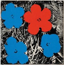 <p>Sturtevant, &ldquo;Warhol Flowers,&rdquo; 1964&#8201;&#150;&#8201;65. Synthetic polymer screenprint on canvas. 221/16&#8201;&times;&#8201;221/16&#733;. Estate Sturtevant, Paris. Courtesy Galerie Thaddaeus Ropac, Paris&#150;Salzburg. &copy; Estate Sturtevant, Paris.</p>