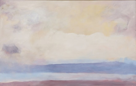"""The Sound of Sleat,"" 1980, Oil on canvas, 50 × 79 ̋."