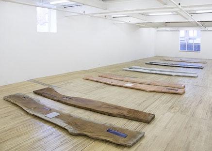 "Lucy Skaer, installation view of ""Sticks & Stones I,"" 2013 – 2015."