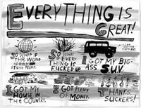 "Jim Torok, ""Everything Is Great!"" (2004), ink on paper."