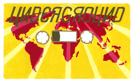 """... the international cassette music underground."" Illustration by Megan Piontkowski."