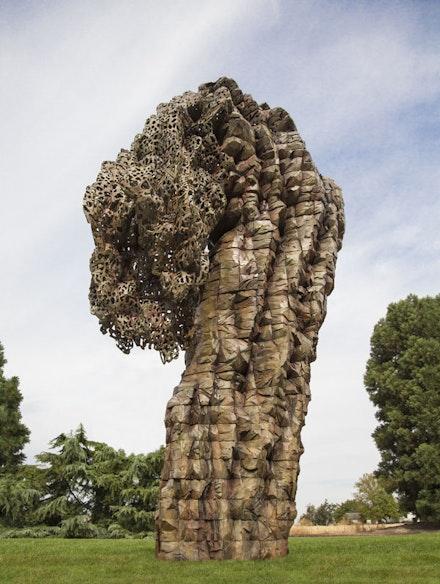 "Ursula Von Rydingsvard, ""Bent Lace"" (2014). Bronze. 9 ́4 ̋ × 5 ́9 ̋ × 3 ́4 ̋."