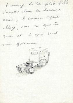 Original manuscript of <em>My Name Is Hmmm....</em> Courtesy of agne&#768;s b.
