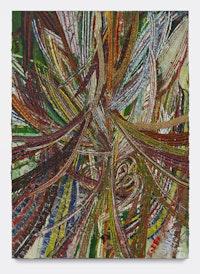 "Mark Grotjahn, ""Untitled (Circus No. 1 Face 44.18)"" (2012). Oil on cardboard mounted on linen, 8 ́5 1/2 ̋ × 72 1/2 ̋. Collection Donald B. Marron, New York. Courtesy of Mark Grotjahn. Copyright Mark Grotjahn. Photo: Douglas M. Parker Studio."